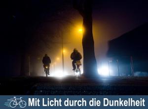 Mit Licht durch die Dunkelheit – Fahrradlicht