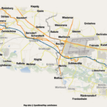 Trassenführung des Radschnellwegs Halle-Leipzig.