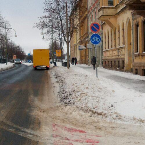 Radfahrstreifen, Elberadweg Dessau, Antoinettenstraße
